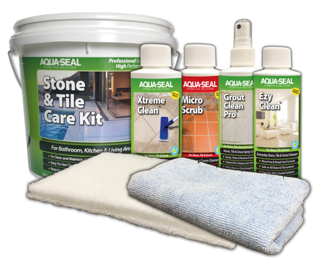 Cleaning starter kit for stone, tile and grout