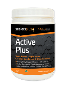 ACTIVE PLUS – OXYGENATED CLEANER & STAIN REMOVER FOR STONE, TILE, GROUT, ENCAUSTICS, TERRAZZO ETC