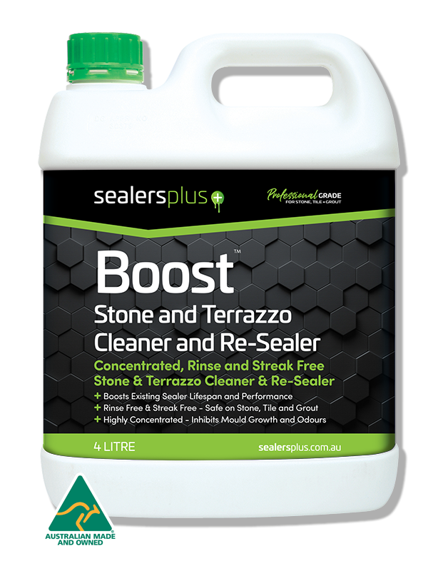 BOOST – CONCENTRATED EVERYDAY CLEANER & RE-SEALER FOR SEALED NATURAL STONE, TILES, GROUT, ENCAUSTICS, TERRAZZO ETC